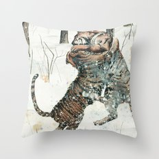 Tigers at Play Throw Pillow