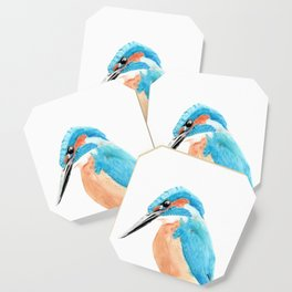 Common Kingfisher Coaster