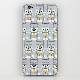 Super cute animals - Cute Kitty Cat Grey Silver iPhone Skin