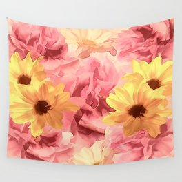 Summer Day Floral Wall Tapestry