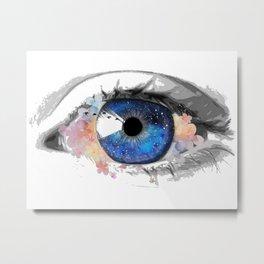 Watercolor eye of Mina Metal Print