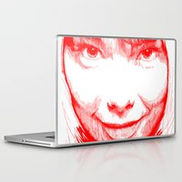 bjork Laptop & iPad Skins featuring BJORK by Andhika Tile