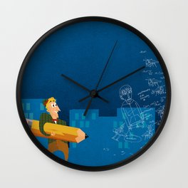 The Doodler Strikes Again Wall Clock