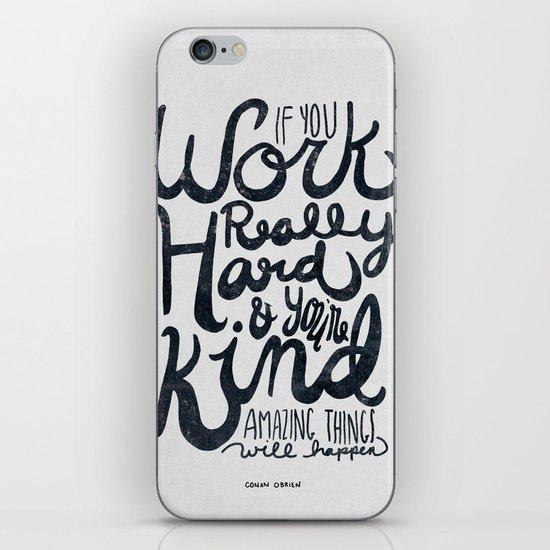 Work Really Hard iPhone & iPod Skin