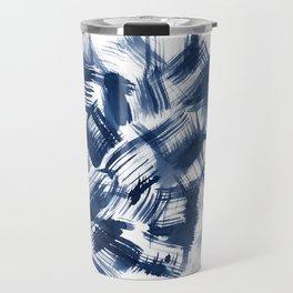 Blue Brush Travel Mug