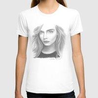 cara delevingne T-shirts featuring Cara Delevingne by Giorgio Arcuri