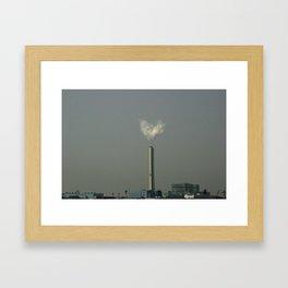 Osaka Love Heart Framed Art Print