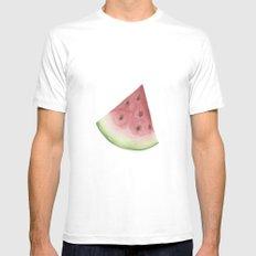 Watermelon MEDIUM White Mens Fitted Tee