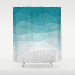 Imperial Pacific - Triangles Minimalism Geometry Shower Curtain
