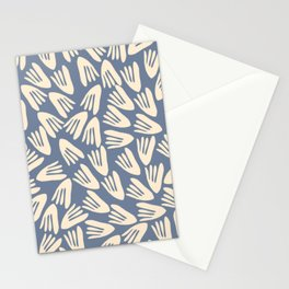 Papier Découpé Abstract Cutout Pattern in Cream and Stone Blue Stationery Cards