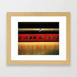 Metro in Helsinki Framed Art Print