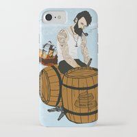 moby iPhone & iPod Cases featuring Captain Moby by Napa