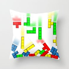 Upps!! Tetris Throw Pillow