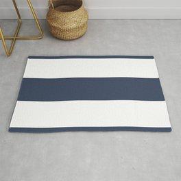 Blue Rugby Striped Art Rug