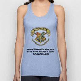 Anything FOR Hogwarts Unisex Tank Top