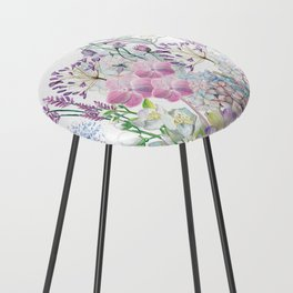 Spring Flowers Bouquet Counter Stool