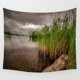 Driftwood And Cattails Wall Tapestry