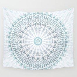 Teal Aqua Mandala Wall Tapestry