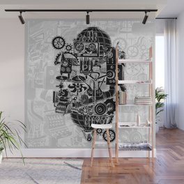 Hungry Gears (negative) Wall Mural