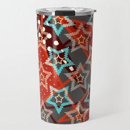 Retro . Christmas stars . Travel Mug