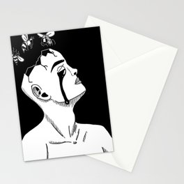 Bee-Head Stationery Cards