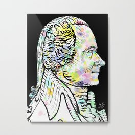 ALEXANDER HAMILTON watercolor and ink portrait Metal Print