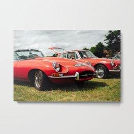 Jaguar E-Type Metal Print