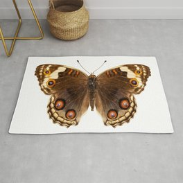 """Butterfly species Junonia orithya """"Eyed Pansy"""" Rug"""