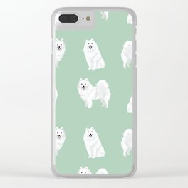 Japanese Spitz pure breed dog pattern pet gifts for dog lovers Clear iPhone Case