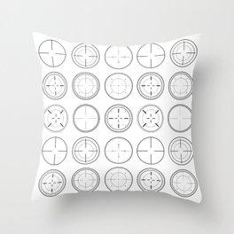 Sniper Scope Targets Throw Pillow