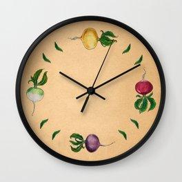 Rainbow Radish Wall Clock
