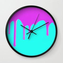 Purple Drips Wall Clock