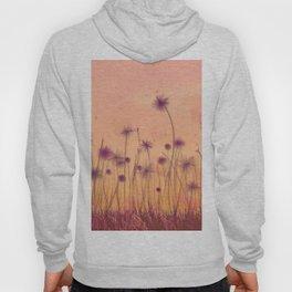 Dreamy Violet Dandelion Flower Garden Hoody