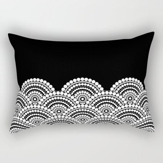 BLACK AND WHITE (abstract pattern) Rectangular Pillow