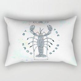 Lobster - Salt Club 76 - Down by the Sea Rectangular Pillow
