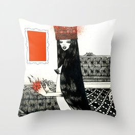 Red Kryptonite #2 Throw Pillow