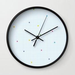 Checked Pattern_N Wall Clock