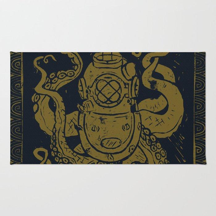 Mark V Octopus - gold Rug