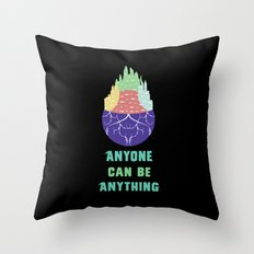 Zootopia - Anyone Can Be Anything [BLACK] Throw Pillow