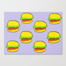 Burger Pattern Canvas Print