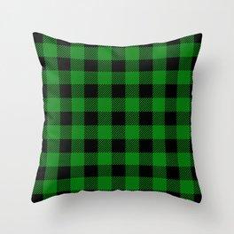 Green Buffalo Plaid Throw Pillow