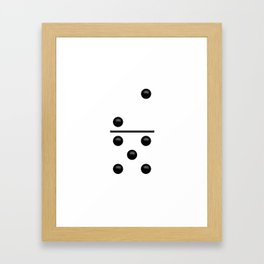 White Domino / Domino Blanco Framed Art Print