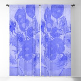 Sunflowers Vincent Van Gogh Japanese Porcelain Concept Blackout Curtain