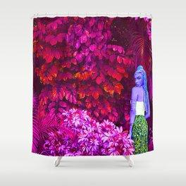 Etheric Alien Goddess in Jungle Shower Curtain