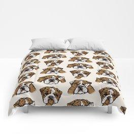 No Evil English Bulldog Comforters