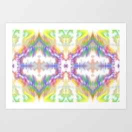 Tie Dyed Impression Art Print