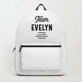 Team Evelyn Lifetime | First Name Family Reunion Gift Backpack