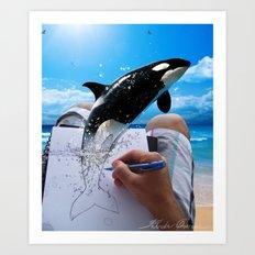Killer Whale Art Print