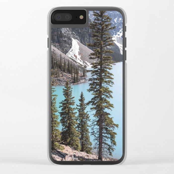 Moraine Lake Vertical Print Clear iPhone Case