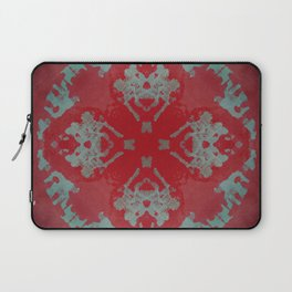 Red Ornament Abstract Design Laptop Sleeve